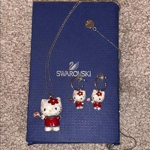 Swarovski Hello Kitty Necklace & Earrings